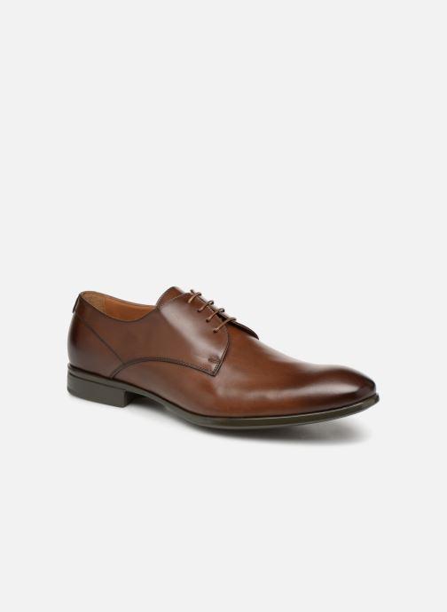 Chaussures à lacets Doucal's Omar Vichy Marron vue détail/paire