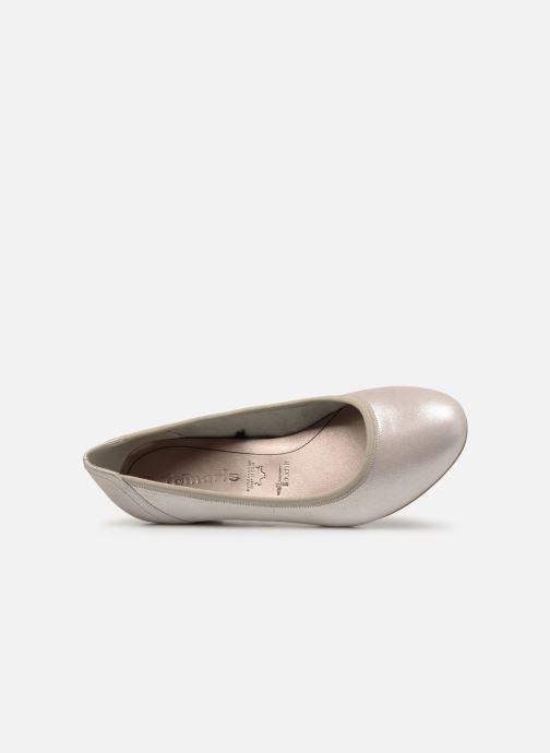 Zapatos de tacón Tamaris Ajonc Plateado vista lateral izquierda