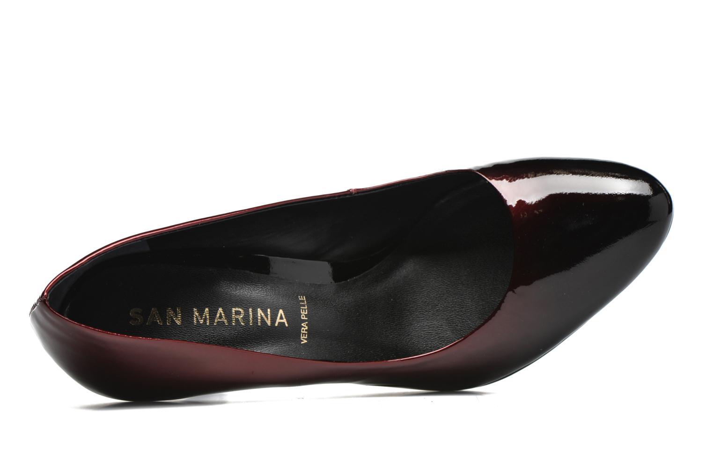 Escarpins San Marina Gaia Rouge vue gauche