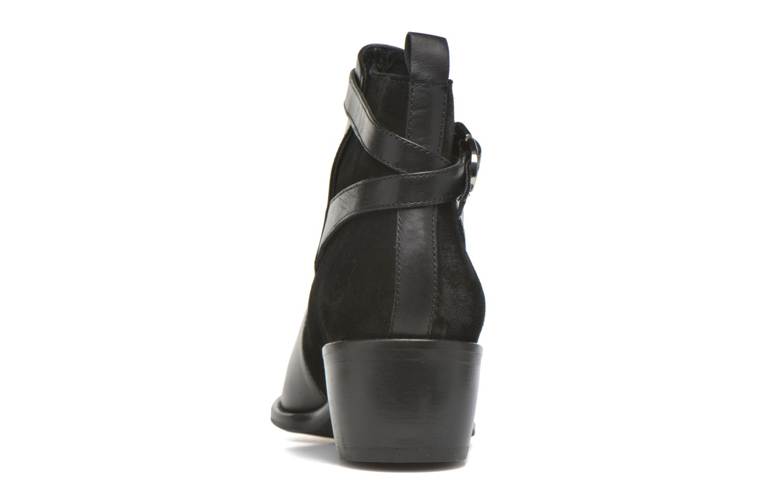 Ankle boots San Marina Ascoli Black view from the right
