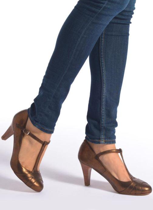 Zapatos de tacón San Marina Lanosa/Met Oro y bronce vista de abajo