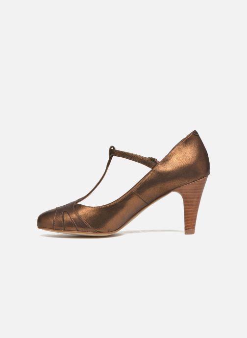 Zapatos de tacón San Marina Lanosa/Met Oro y bronce vista de frente