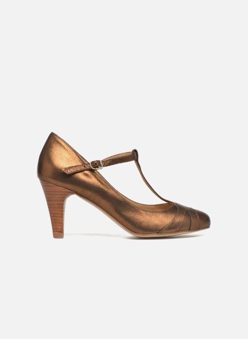 Zapatos de tacón San Marina Lanosa/Met Oro y bronce vistra trasera