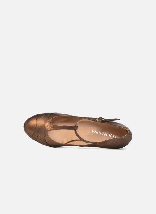 Zapatos de tacón San Marina Lanosa/Met Oro y bronce vista lateral izquierda