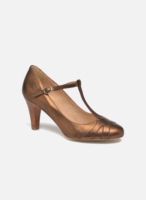 Zapatos de tacón San Marina Lanosa/Met Oro y bronce vista de detalle / par