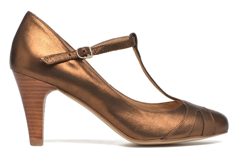 High heels San Marina Lanosa/Met Bronze and Gold back view