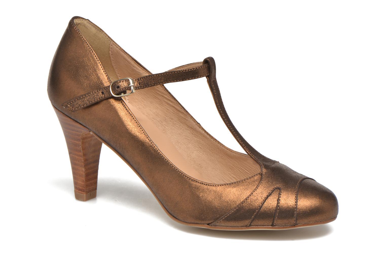 High heels San Marina Lanosa/Met Bronze and Gold detailed view/ Pair view