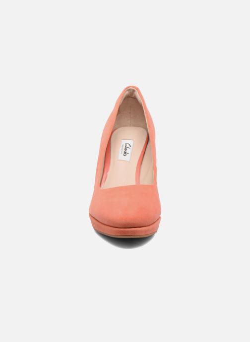 Escarpins Clarks Kendra Sienna Orange vue portées chaussures