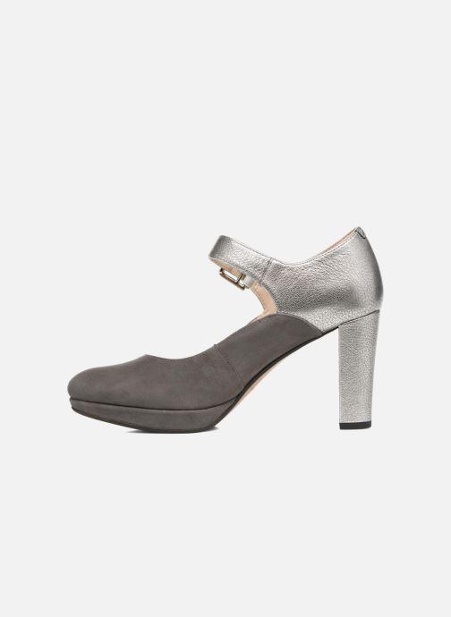 High heels Clarks Kendra Gaby Grey front view