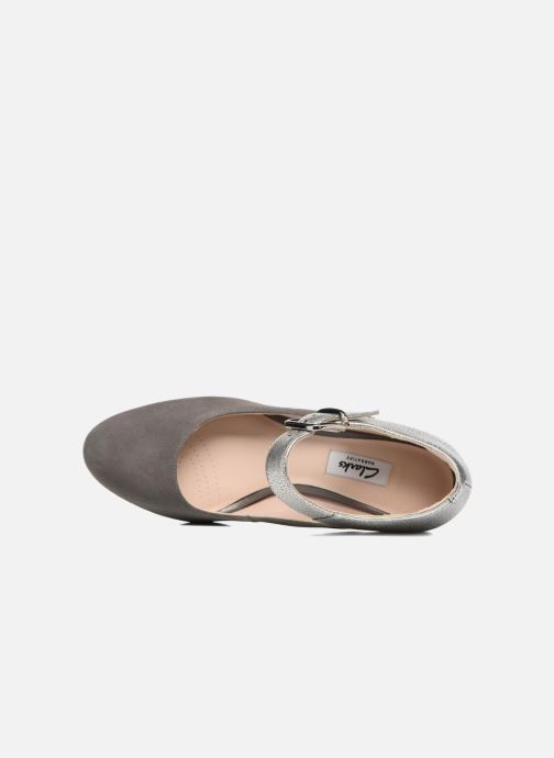 High heels Clarks Kendra Gaby Grey view from the left