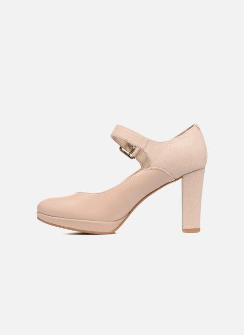 Zapatos de tacón Clarks Kendra Gaby Rosa vista de frente