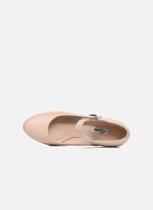 Zapatos de tacón Clarks Kendra Gaby Rosa vista lateral izquierda