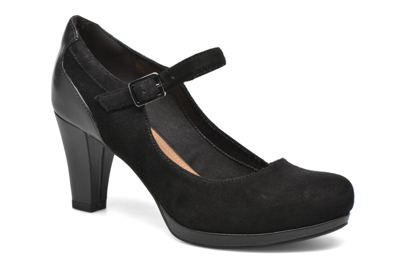 Zapatos de tacón Clarks Chorus Halo Negro vista del modelo