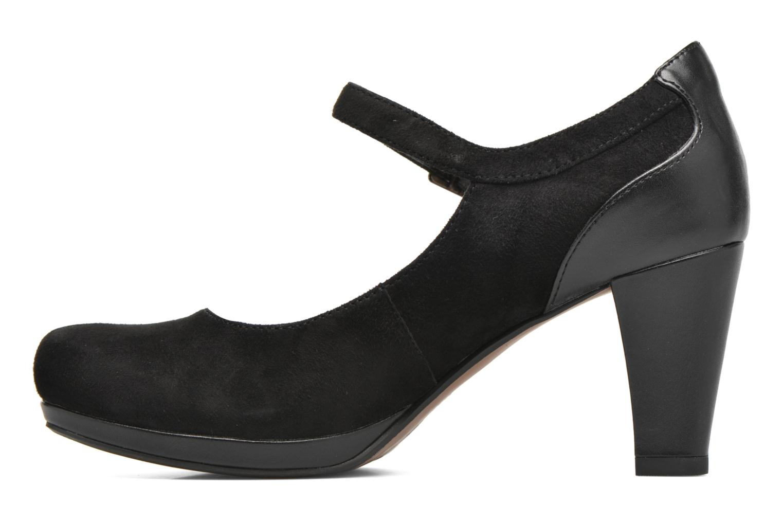 Zapatos de tacón Clarks Chorus Halo Negro vista lateral derecha