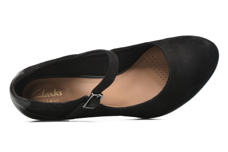 Zapatos de tacón Clarks Chorus Halo Negro vista de arriba