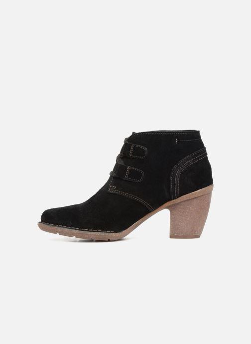Bottines et boots Clarks Carleta Lyon Noir vue face
