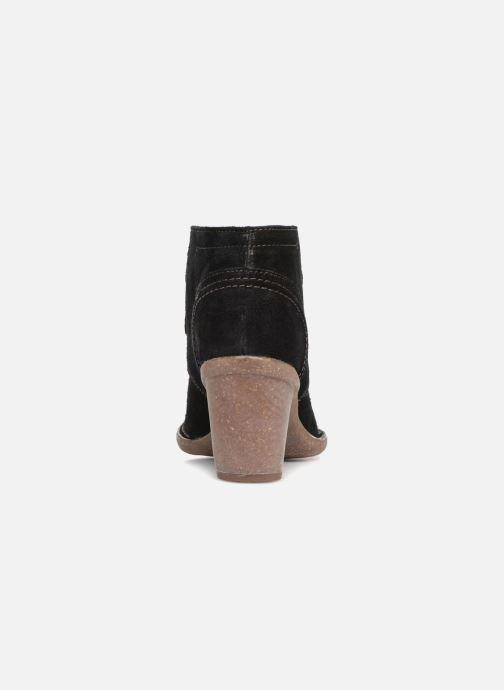 Bottines et boots Clarks Carleta Lyon Noir vue droite