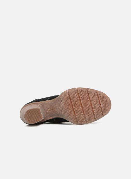 Bottines et boots Clarks Carleta Lyon Noir vue haut