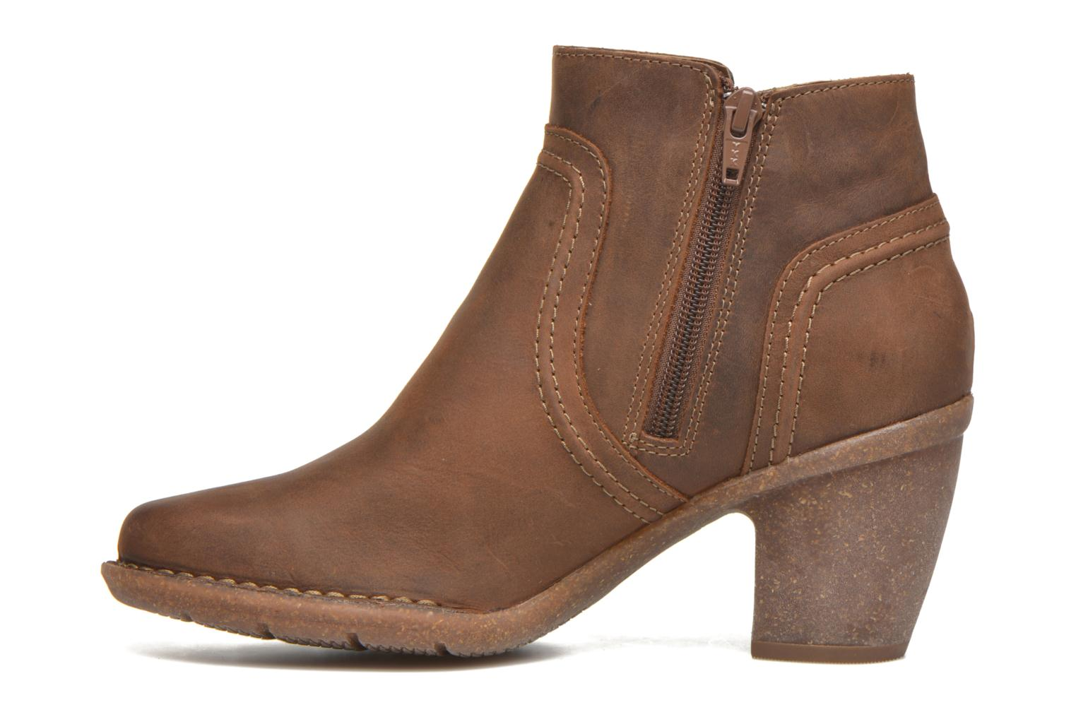Ankle boots Clarks Carleta Paris Brown front view
