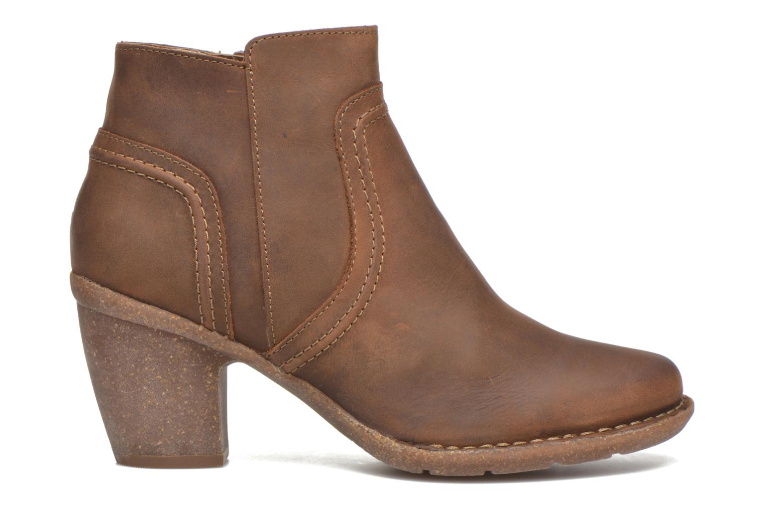 Ankle boots Clarks Carleta Paris Brown back view