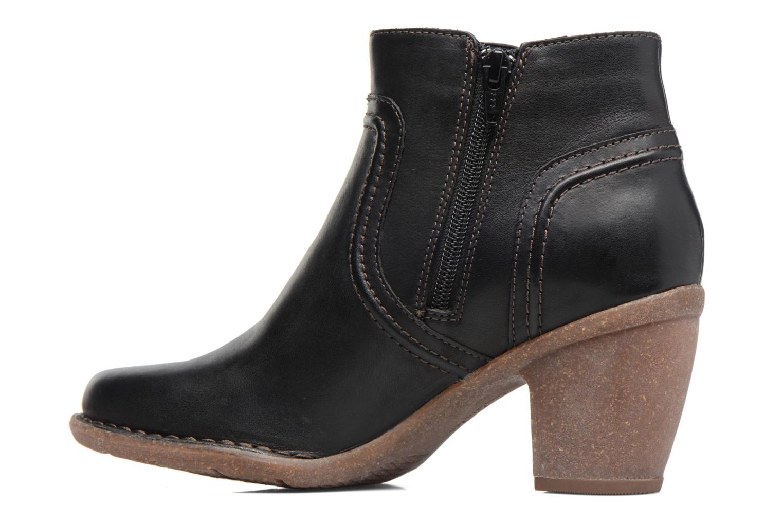 Bottines et boots Clarks Carleta Paris Noir vue face