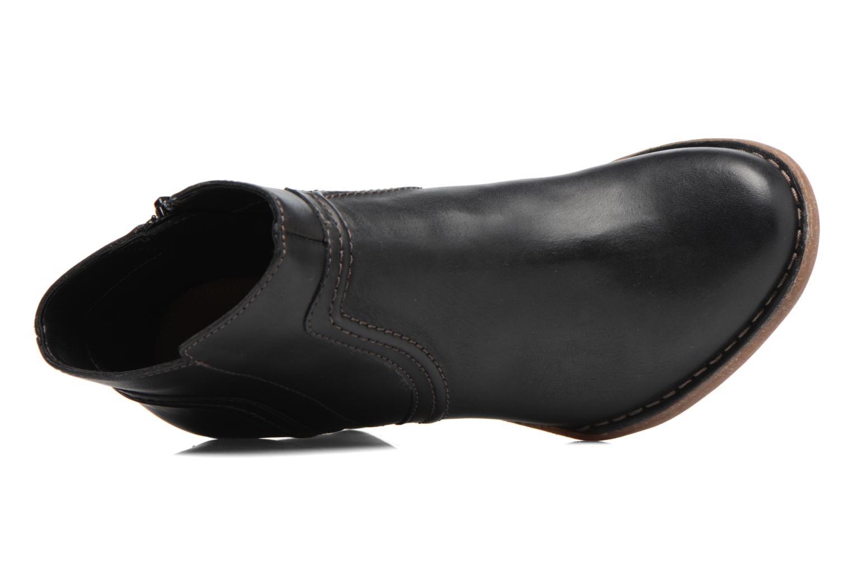 Bottines et boots Clarks Carleta Paris Noir vue gauche