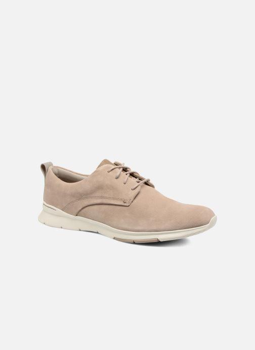 Snøresko Clarks Tynamo Walk Beige detaljeret billede af skoene