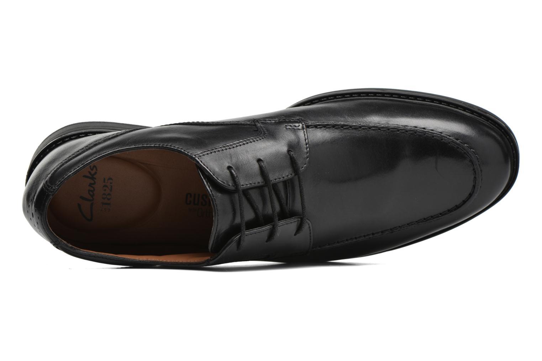 Chaussures à lacets Clarks Beckfield Apron Noir vue gauche