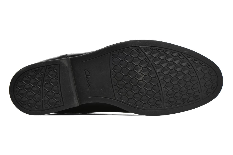 Chaussures à lacets Clarks Beckfield Apron Noir vue haut