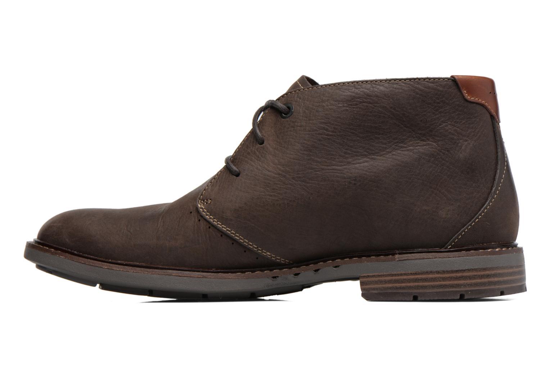 Chaussures à lacets Clarks Unelott Mid Marron vue face