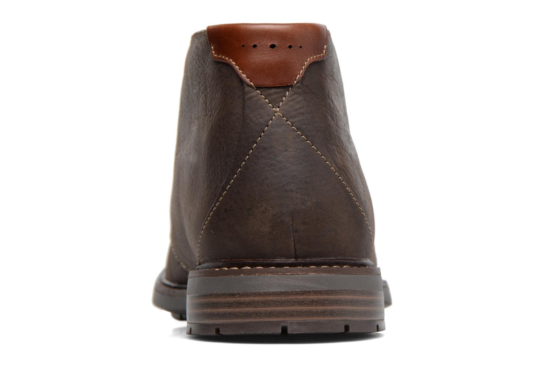 Chaussures à lacets Clarks Unelott Mid Marron vue droite