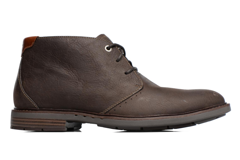 Chaussures à lacets Clarks Unelott Mid Marron vue derrière