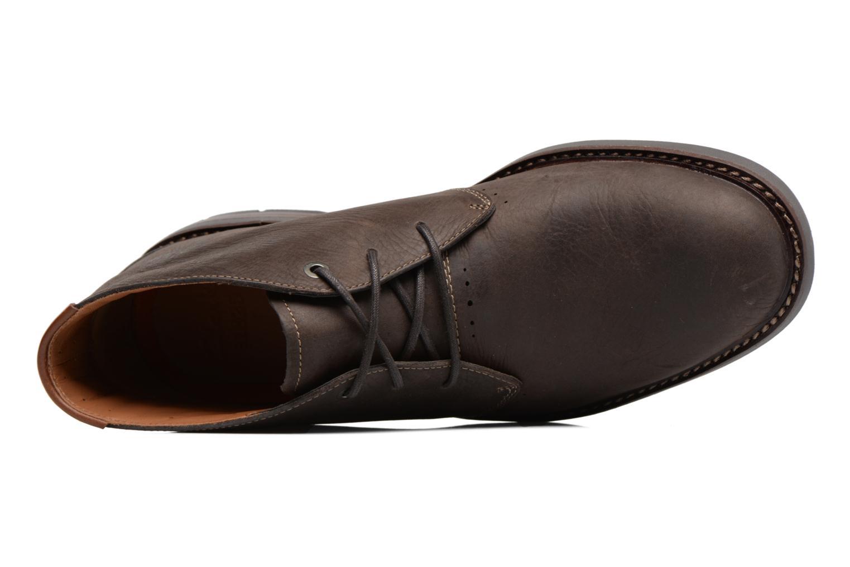 Chaussures à lacets Clarks Unelott Mid Marron vue gauche