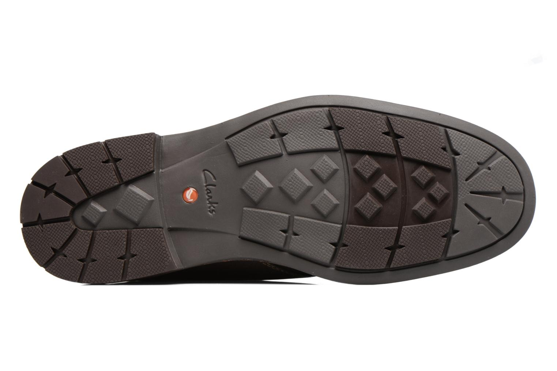 Chaussures à lacets Clarks Unelott Mid Marron vue haut