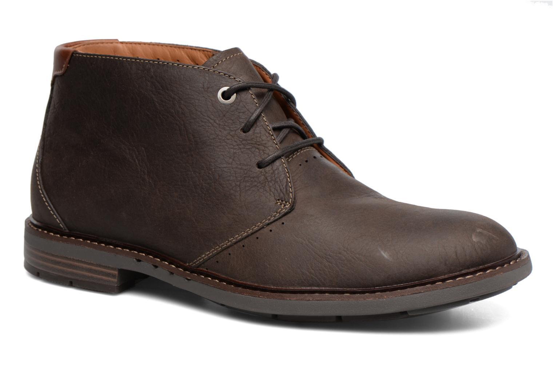 Chaussures à lacets Clarks Unelott Mid Marron vue détail/paire