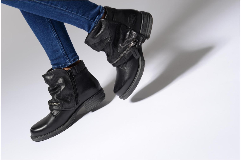 Bottines et boots Dockers Nikol Noir vue bas / vue portée sac