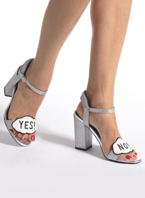 Sandales et nu-pieds COSMOPARIS Jokes/Diam Argent vue bas / vue portée sac