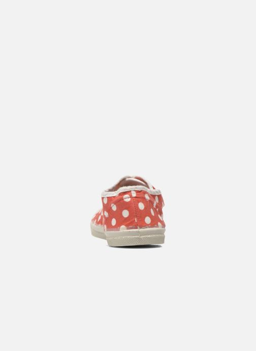 Trainers Bensimon Tennis Lacets Pois E Red view from the right