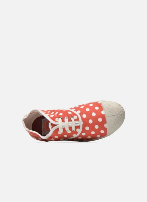 Trainers Bensimon Tennis Lacets Pois E Red view from the left