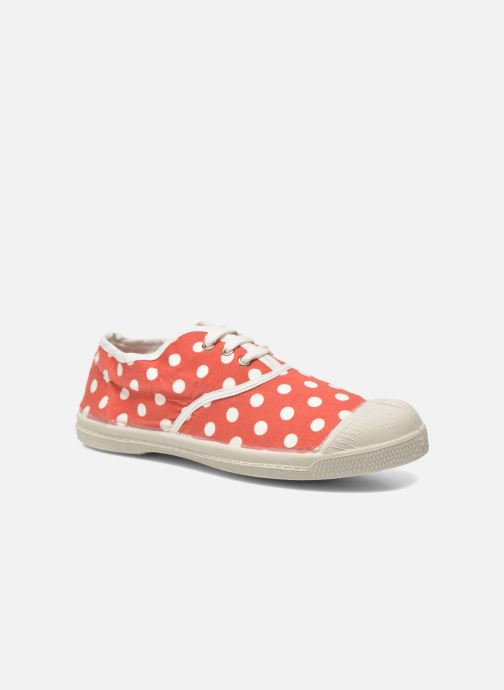 Trainers Bensimon Tennis Lacets Pois E Red detailed view/ Pair view