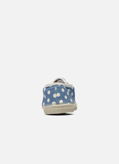 Trainers Bensimon Tennis Lacets Pois E Blue view from the right
