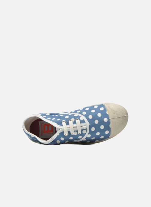 Trainers Bensimon Tennis Lacets Pois E Blue view from the left