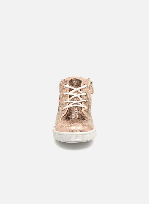 Baskets NA! Alpaga Or et bronze vue portées chaussures