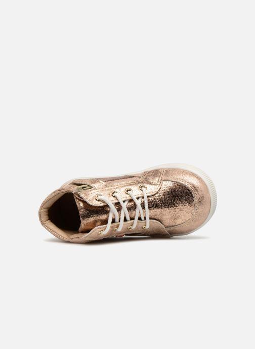 Baskets NA! Alpaga Or et bronze vue gauche