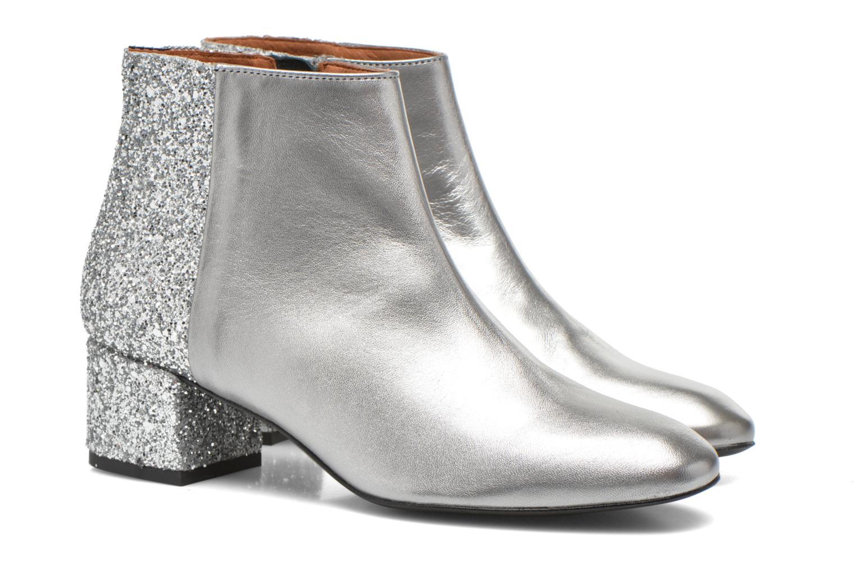 Bottines et boots Made by SARENZA Glamatomic #8 Argent vue derrière
