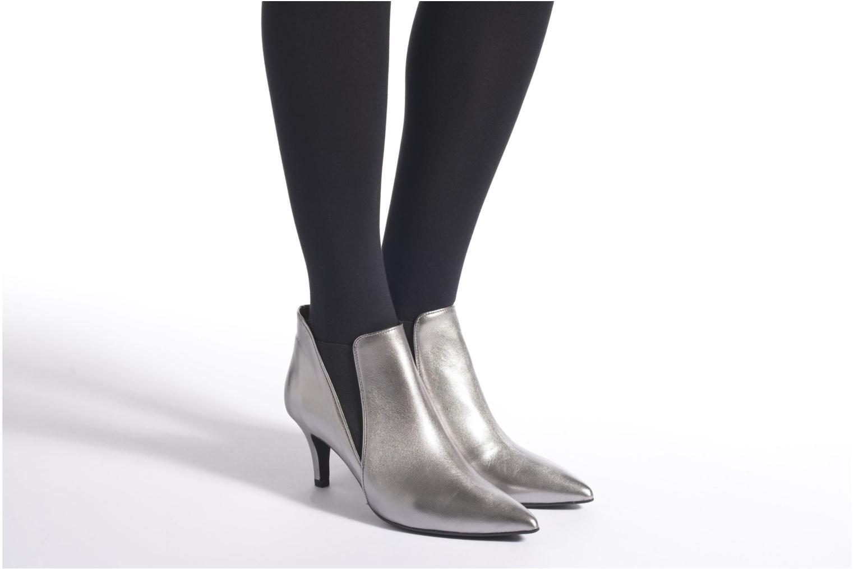 Bottines et boots Made by SARENZA Glamatomic #7 Argent vue bas / vue portée sac