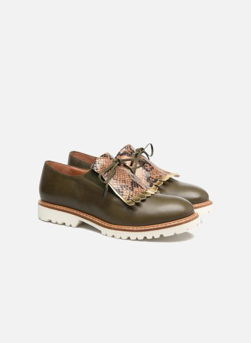 Mocassins Made by SARENZA Busy Girl Chaussures à Lacets #2 Vert vue derrière