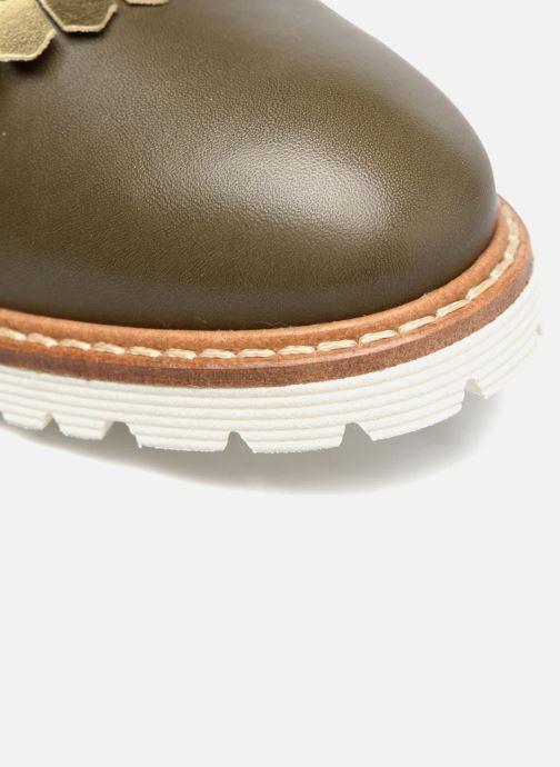 Slipper Made by SARENZA Busy Girl Chaussures à Lacets #2 grün ansicht von links