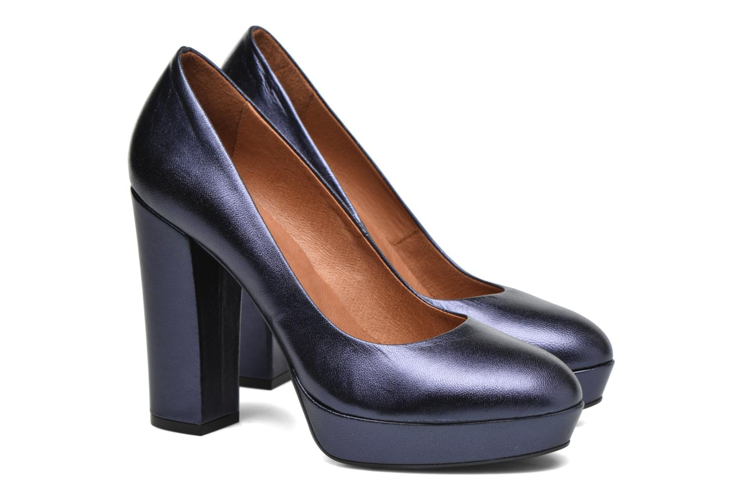 Pumps Made by SARENZA Glossy Cindy #7 Blauw achterkant