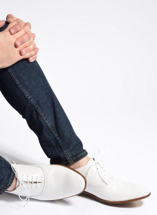 Chaussures à lacets Marvin&Co Newry Bleu vue bas / vue portée sac